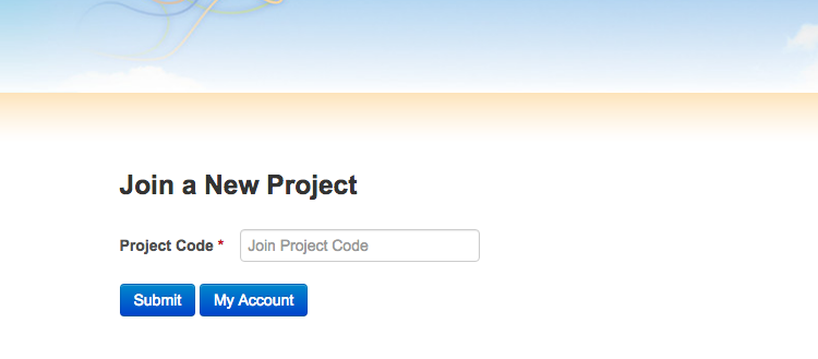 Join a Project Form
